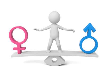 masculino: Individuo 3D y masculina y femenina modelo Foto de archivo