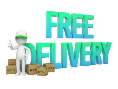 3D guy and the word free delivery