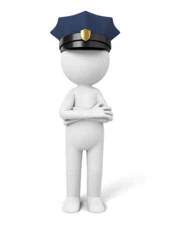 3d: A 3d policeman