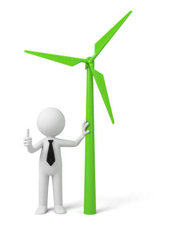 wind power: A 3D guy and   Wind power generator