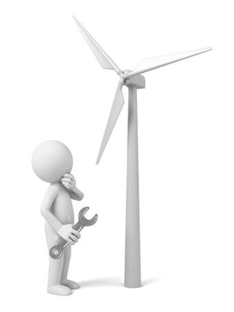 power generator: A 3D guy and   Wind power generator