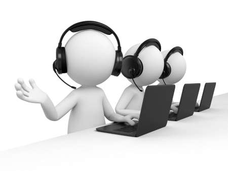 calls: There are three telemarketers