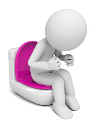 latrine: The 3D person sitting on a toilet bowl