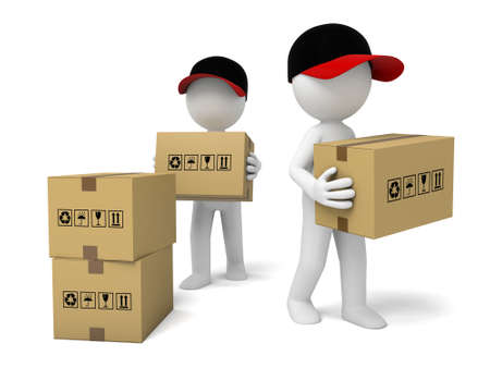 3D courier guys