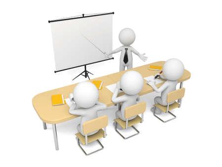 これらの 3 D の人々 が会議を持っています。