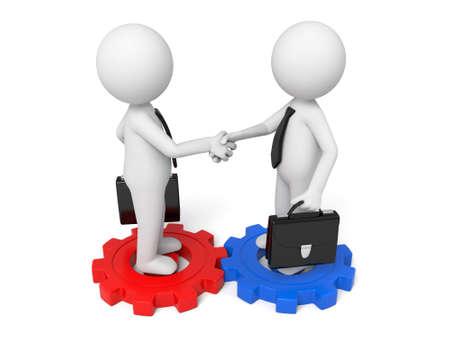 unite: two businessman handshake