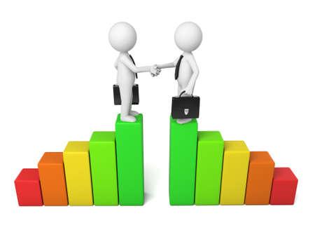uniting: two businessman handshake