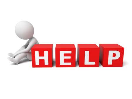 The 3D guy needs help Banco de Imagens - 49674373