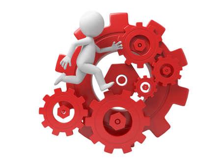 revolve: The 3D guy running on gears