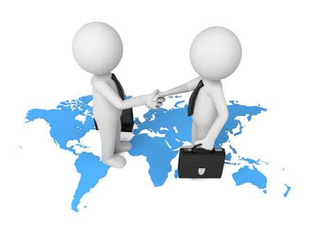 uniting: Welcoming business partners handshake.