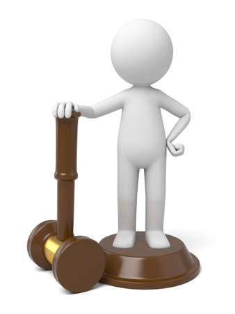 The 3D guy and a gavel