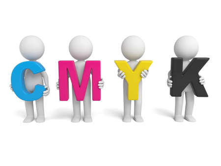 3d mode: The 3D guy and the CMYK mode