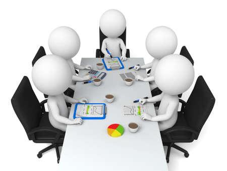 3d 사람들은 회의에 있습니다 스톡 콘텐츠