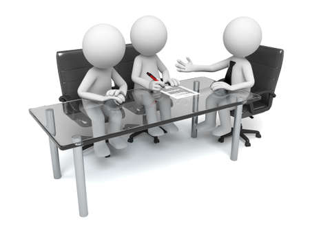 3d mensen op vergadering Stockfoto