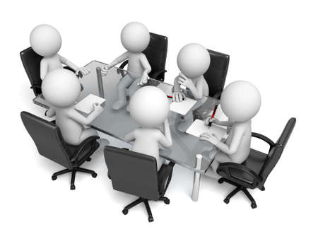 3d people are at meeting Standard-Bild