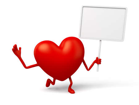 The 3d heart and a board