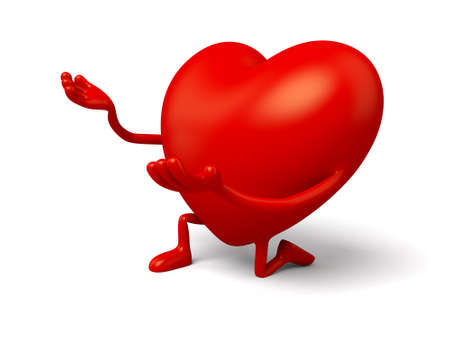 3d heart: The 3d heart is proposing Stock Photo
