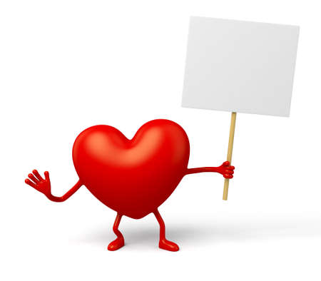 enthusiastic: The 3d heart and a board
