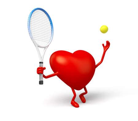 3d heart: The 3d heart is a tennis player