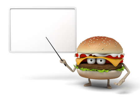 instruct: The 3d hamburger was lecturing