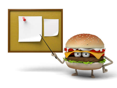 lecturing: The 3d hamburger was lecturing