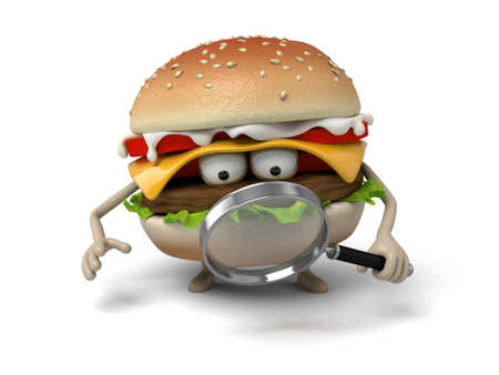 short order: The 3d hamburger and a magnifier