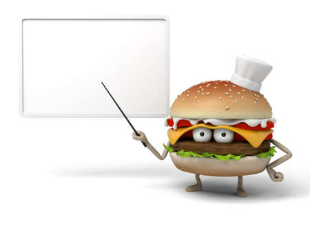 The 3d hamburger was lecturing