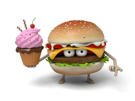 short order: The 3d hamburger and an ice cream