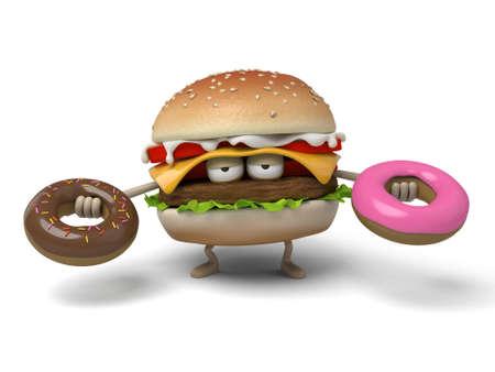 doughnut: The 3d hamburger and doughnut