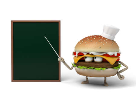 short order: The 3d hamburger was lecturing