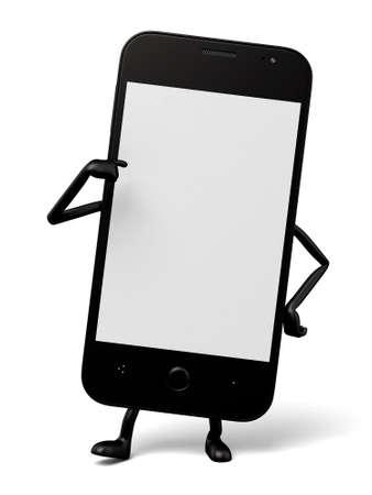 oneself: 3d smartphone show hand gesture