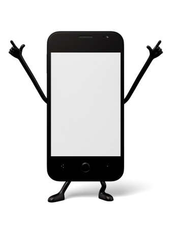 phone and call: 3d smartphone show hand gesture