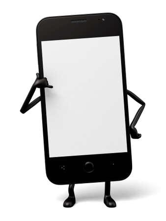 oneself: 3d smartphone with hand gesture