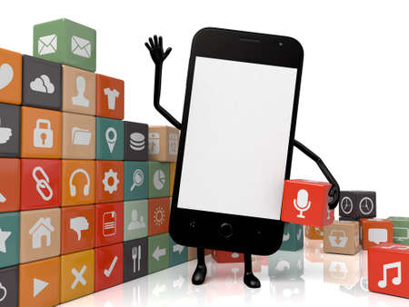 smartphone apps: The 3D smartphone and a lot of cellphone apps
