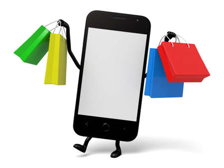 smartphone: The 3D smartphone is shopping