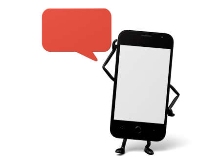dialog box: The 3d smartphone and a dialog box