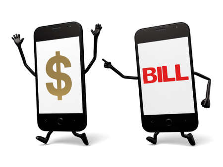 urging: A smartphone and a bill urging