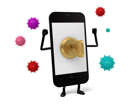security lock: cellphone with security lock