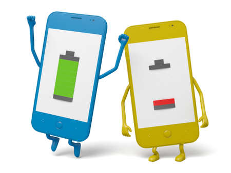 The cellphones with battery  status
