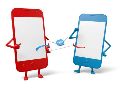 cellphones: The two cellphones and an email