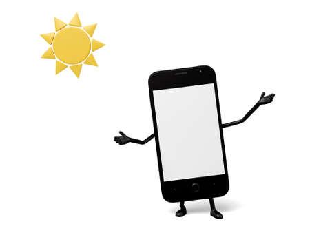fine: A smartphone met a fine day
