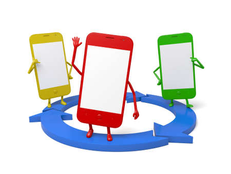 circulate: These smartphones and a data sharing circle