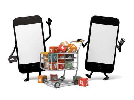 The cellphone can be downloaded a far greater variety of apps