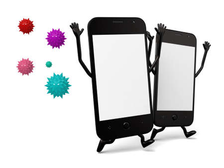 hp: Two smartphones and some virus