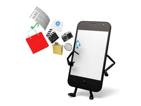 A smartphone and a lot of cellphone applications