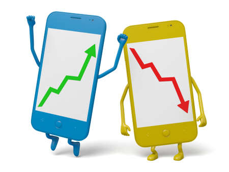 hp: The smartphones with up and down arrows