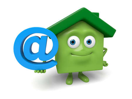 email address: The house and  email address symbol