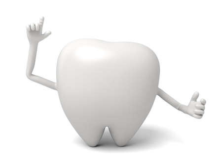 The tooth is pointing up Banco de Imagens