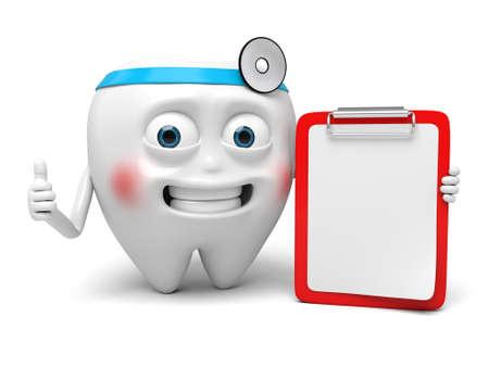 The dentist and clipboard Reklamní fotografie - 55231251