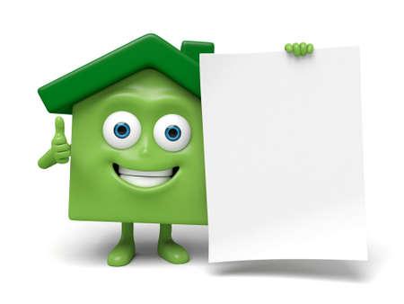 Het huis en een stuk papier Stockfoto - 55267460